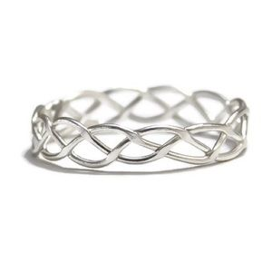925 SS WOVEN CELTIC RING